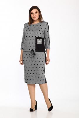 Комплект Lady Style Classic 2110/2 серый-черный_горох