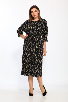 Платье Lady Style Classic 2175/3 черно-бежевый