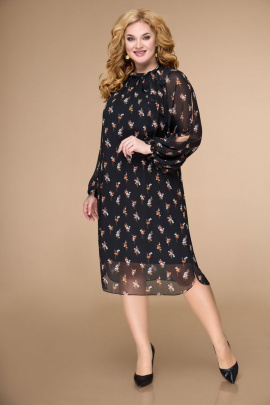 Платье Svetlana-Style 1706 черный+цветы