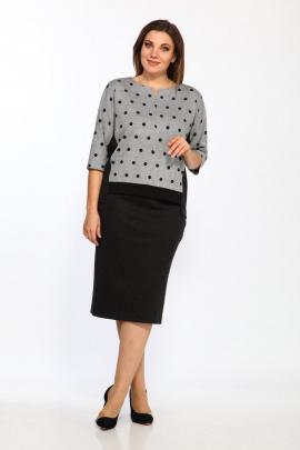 Комплект Lady Style Classic 1374/4 черный-серый