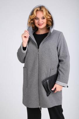 Пальто Viola Style 6043 серый_меланж