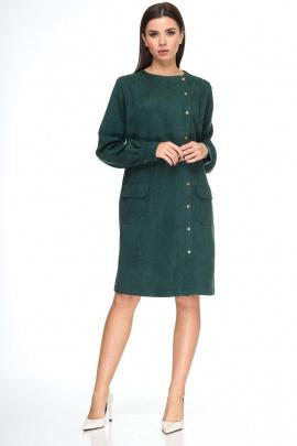 Платье Anelli 967 изумрудный_бархат