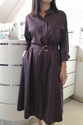 Платье Achosa 211 бордовая полоска