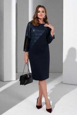 Платье Lissana 4407 темно-синий