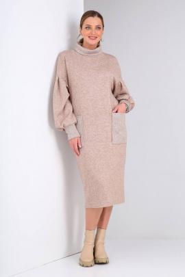 Платье Viola Style 0980/1 бежевый