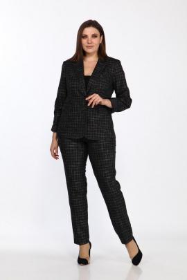 Женский костюм Lady Style Classic 1725/4 черный_клетка