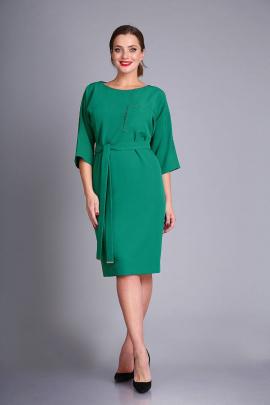 Платье Andrea Style 0393 изумруд