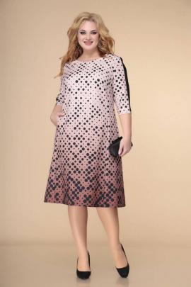 Платье Romanovich Style 1-2236 пудра/черный