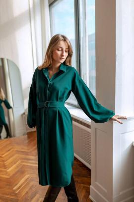 Платье KRASA 238-21 изумрудный