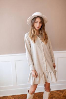 Платье KRASA 277-21 молочное_в_клетку