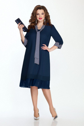 Платье TEZA 757 темно-синий
