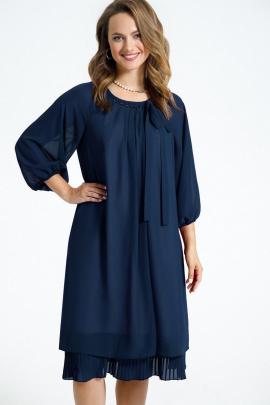 Платье TEZA 2683 темно-синий