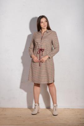 Платье Angelina 4881 бежевый_фон
