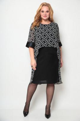 Платье Michel chic 2072 черный_принт