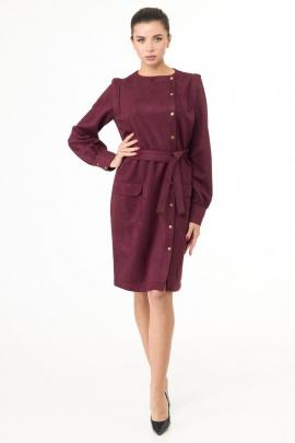 Платье Anelli 967 вишня_бархат