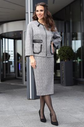 Женский костюм Мода Юрс 2621 серый