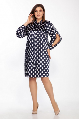 Платье LaKona 1399 синий+горох