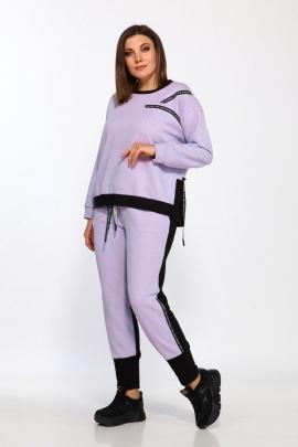 Спортивный костюм Lady Style Classic 2387 лаванда-черный