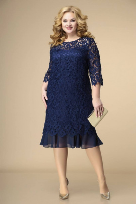 Платье Romanovich Style 1-1849 синий/кружево