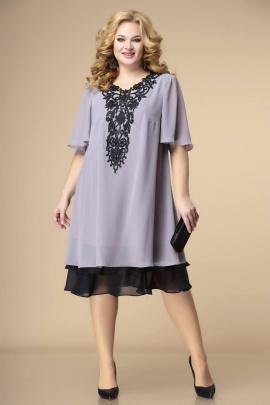 Платье Romanovich Style 1-2231 серый/черный