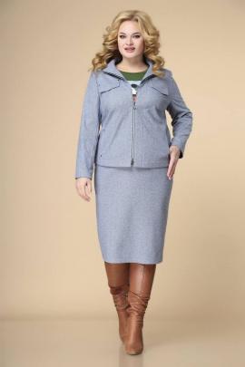 Женский костюм Romanovich Style 3-2248 голубой/зеленый