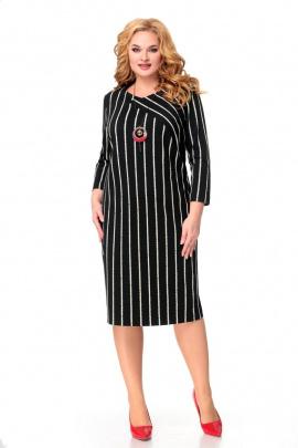 Платье Мишель стиль 1007 молочный+черный