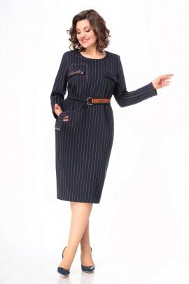 Платье Мишель стиль 1005 сине-терракотовай