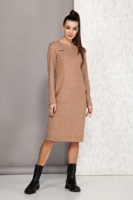 Платье Karina deLux М-9948А кэмел