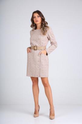 Платье SandyNa 130102 молочно-бежевый