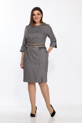 Платье Lady Style Classic 2364 бежево-голубой