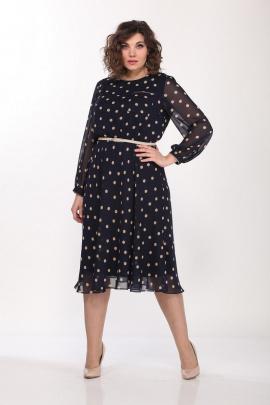 Платье Lady Style Classic 2205/5 темно-синий_бежевый