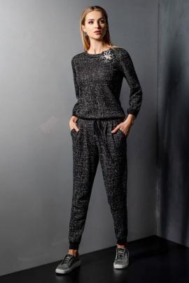 Джемпер Barbara Geratti by Elma 3874 черный/серый