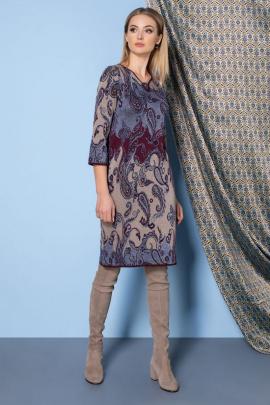 Платье Barbara Geratti by Elma 2750 синий/беж