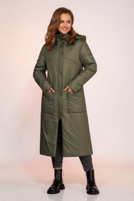 Пальто Dilana VIP 1750 олива