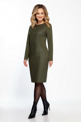 Платье Dilana VIP 1824 олива