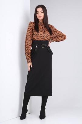 Комплект Viola Style 2675 коричневый_-_черный