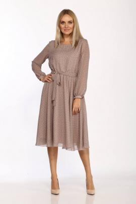 Платье Danaida 2068 бежевый/белый_горошек