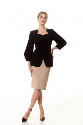 Женский костюм Vladini SТ1337 бежевый-черный