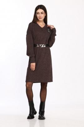 Платье Karina deLux М-9955 горький_шоколад