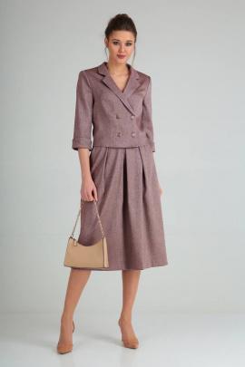 Женский костюм Viola Style 2655 бордовый_меланж