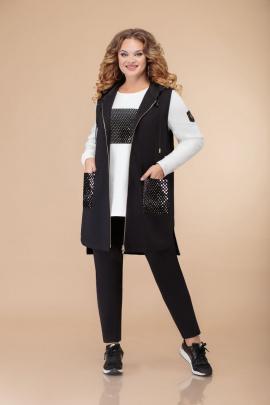 Спортивный костюм Svetlana-Style 1492 черный+белый2