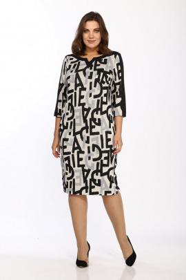Платье Lady Style Classic 1123/8 черно-беж_буквы