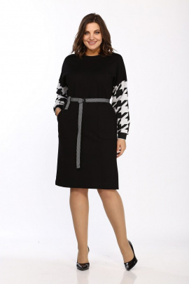 Платье Lady Style Classic 2421 черный-серый