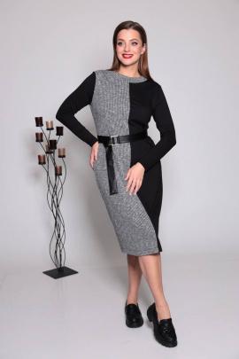 Платье TAiER 1033 серый/черный