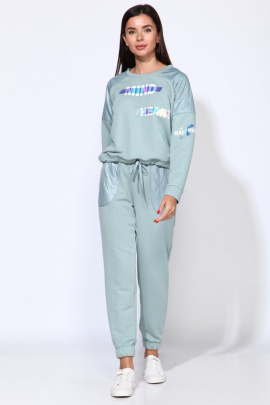Спортивный костюм Faufilure С1325 голубой