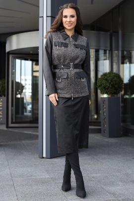 Женский костюм Мода Юрс 2613-1 серый