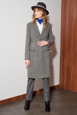 Пальто Nelva 0057 серый_меланж