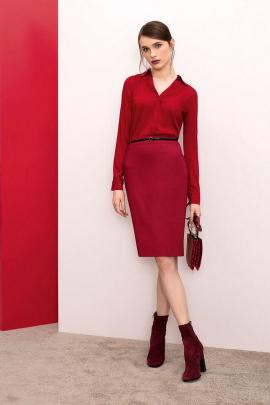 Блуза Nelva 21653 темно-красный