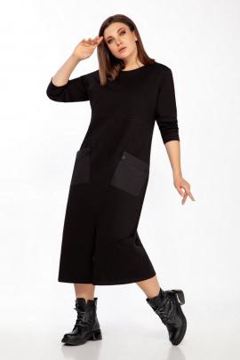 Платье Ольга Стиль С-728 черный