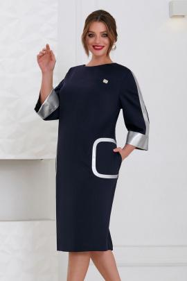 Платье Lissana 4411 темно-синий